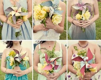Wedding Pinwheels Paper Pinwheels in Large Size Pinwheel Custom Pinwheels Custom Wedding Pinwheels Twirling Pinwheels Spinning Pinwheels