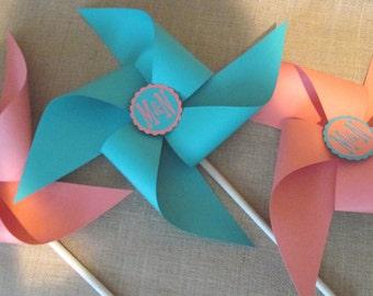 Wedding Bouquet Wedding Pinwheels Custom Pinwheels Large Pinwheels Yard Pinwheels Paper Pinwheels Corporate Logo Promo Bridal Shower Favors