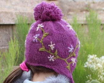 Kid's Wool Hand Knit Winter Hat