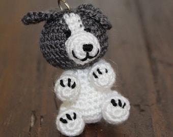 Amigurumi Keychain - Crochet Puppy - Cute Puppy Handmade Bag Charm and Gift