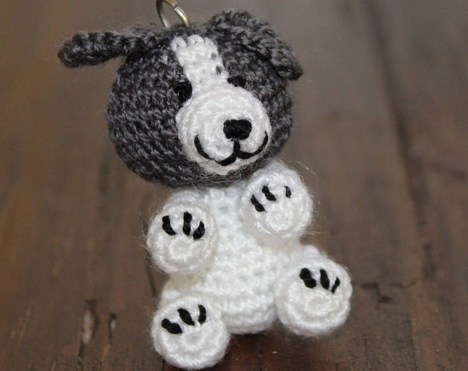 Amigurumi Keychain - Crochet Puppy - Cute Puppy Handmade Bag Charm and Gift