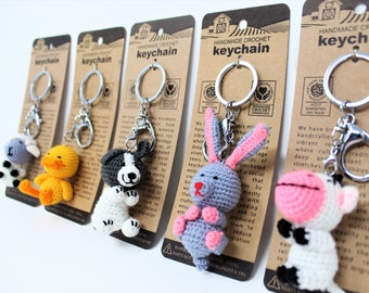 Amigurumis Crocheted Farm Animals Christmas Day, Gift for Her and Him, Graduation Gifts, amigurumi doll (Set of 5)