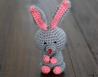 Bunny Amigurumi Keychain - Easter Bunny - Handmade Cute Bunny Gift