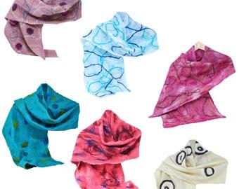 Women's Merino Wool Felted Silk Scarf