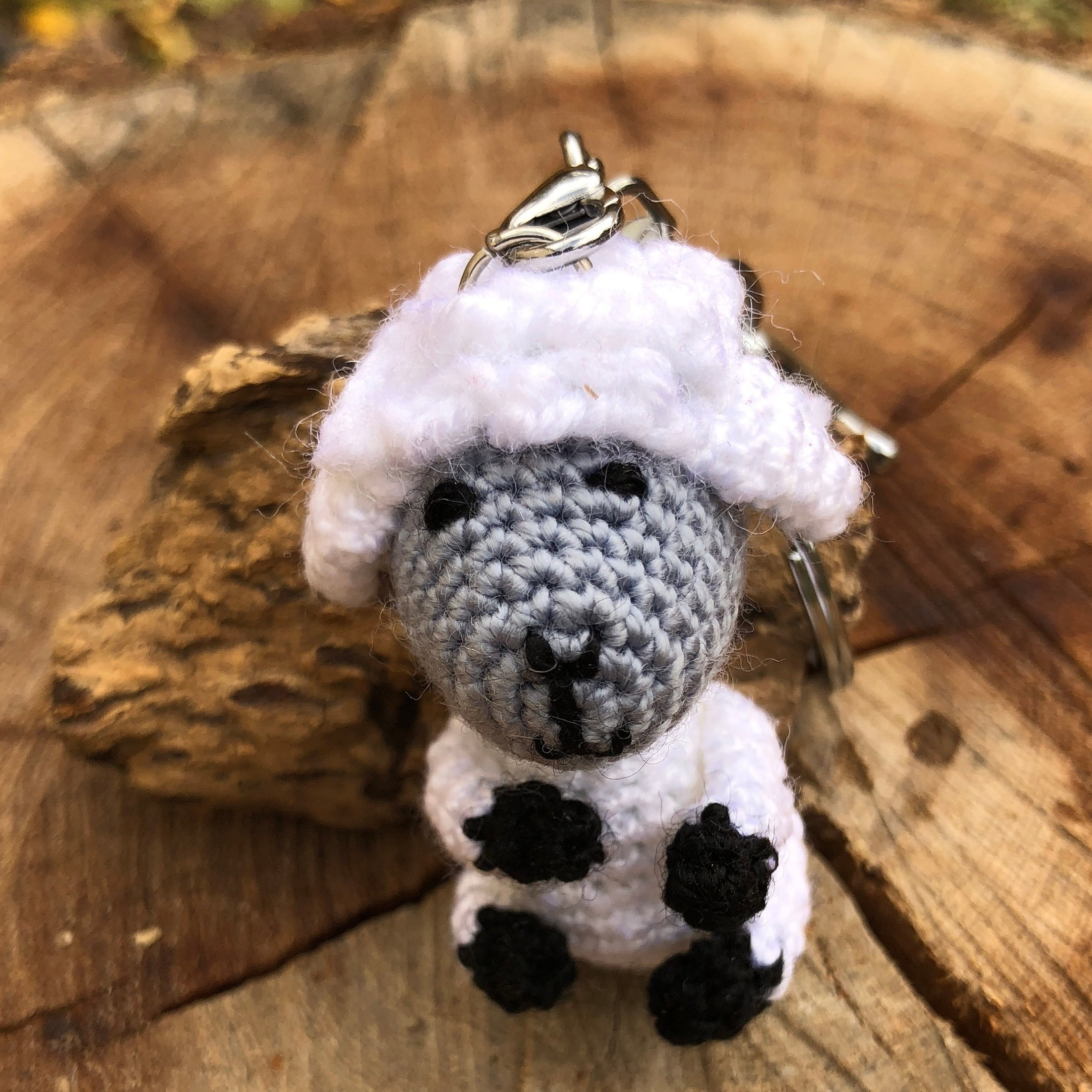Crochet soft toy sheep pendant for car accessories, Cute amigurumi ... | 2292x2292
