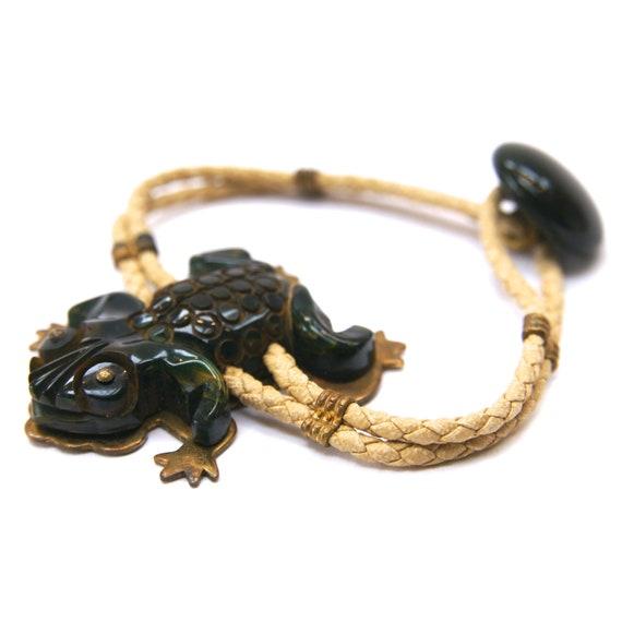 1940s Bakelite Frog Bracelet