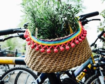 Bicycle Basket: A Crochet PDF Pattern