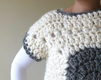 CHUNKY Granny Tee: A Crochet PDF Pattern