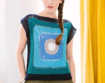 Granny Tee: A Crochet PDF Pattern