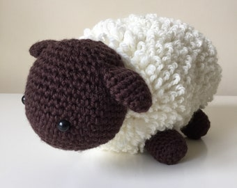 A Little Sheep: A Crochet PDF Pattern in UK and US terms