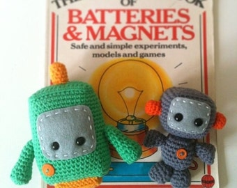 Two Little Robots: A Crochet PDF Pattern