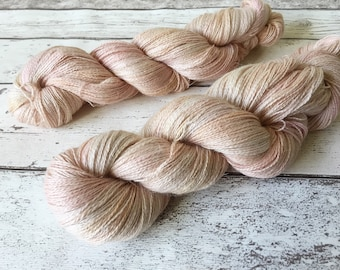 Alpaca Lace in Jetsam: Naturally hand-dyed Lace weight yarn in Baby Alpaca, Silk and Linen 100g / 600m