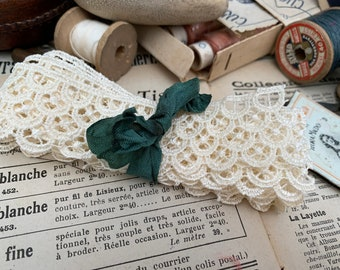 70 mm Delicate GUIPURE Edging Couture Bridal Lace Trimming Ivory-Per metre...