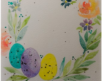 Spring Wreath #2 - Original Watercolor by Lexi Grenzer