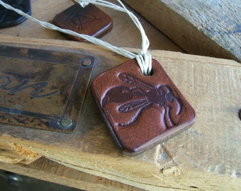 ALW USA Powerful Vintage Handmade Leather Charm Amulet USA-Made in California