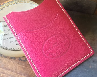 Handmade Alran French Goatskin Card Wallet for Front Pocket or Purse
