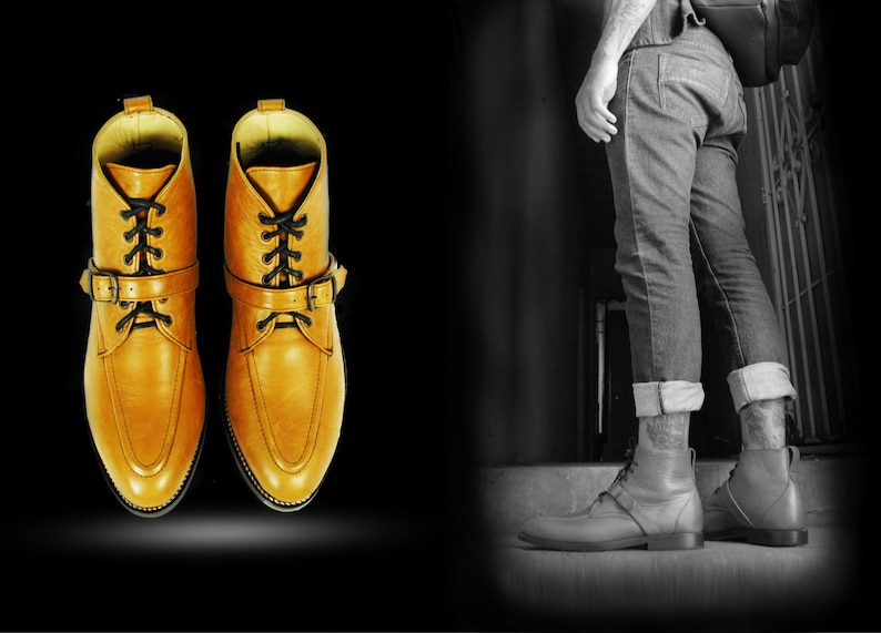 fe8b9c3940109 RIMBAUD Moc Toe Ankle GOODYEAR Welted BOOTS.