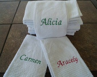 Personalized Kitchen Bar Mop Towels