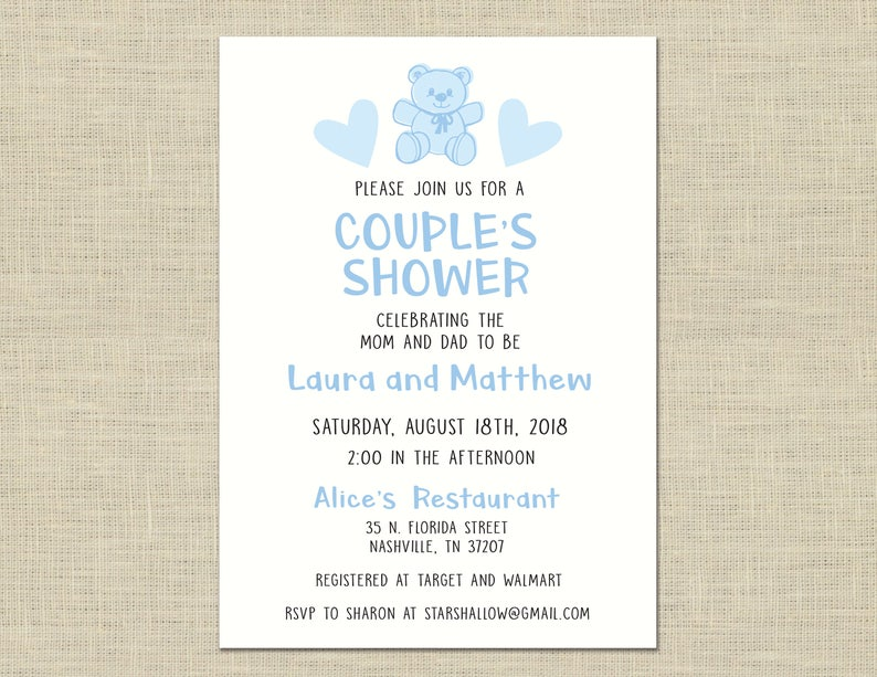 e38b5120fd34 Couples Shower Invitation custom printable baby shower