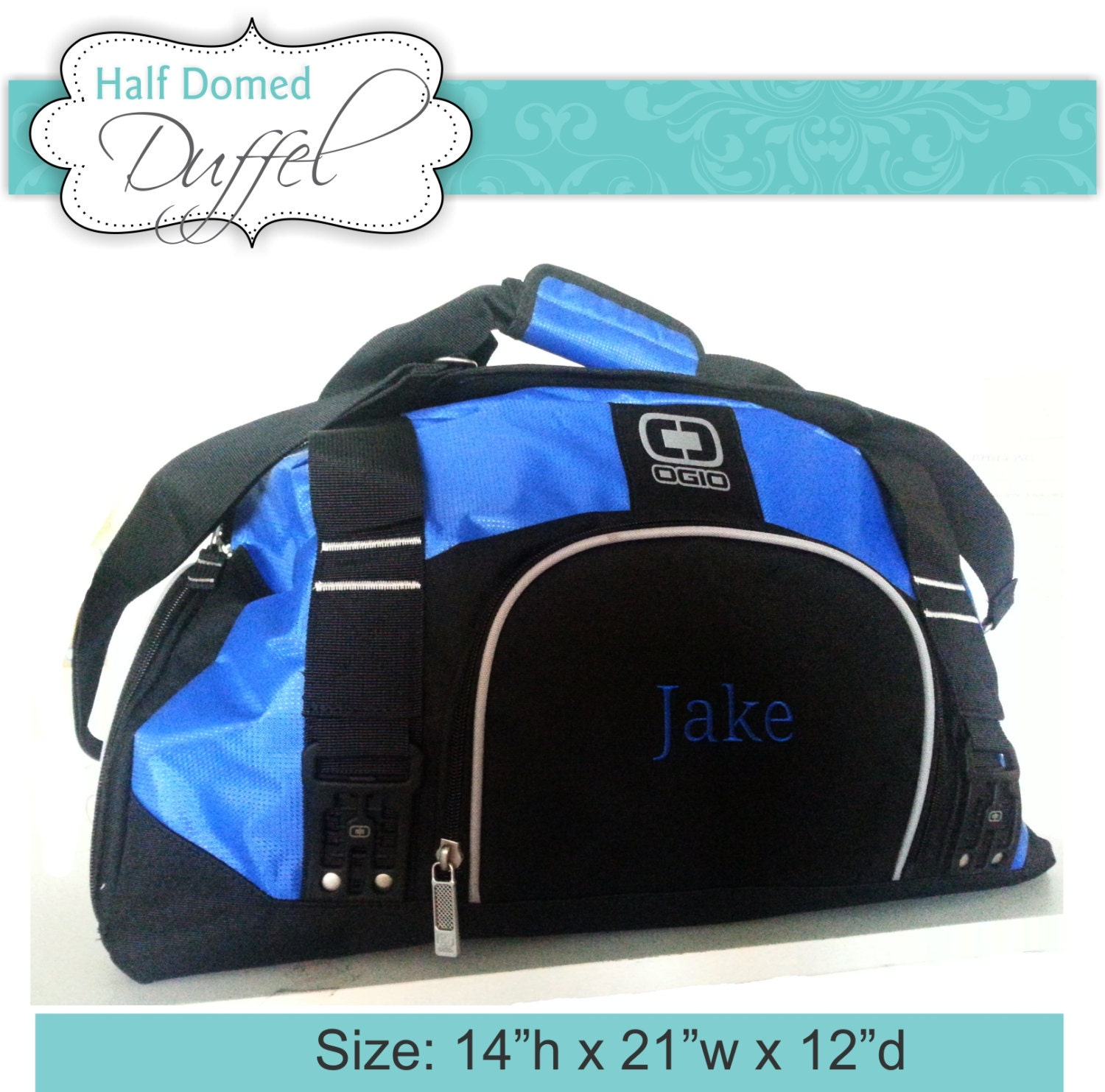 Quantity 6 Personalized Gym Bag for Men and Women Monogrammed  6d4f7bf5f3e11