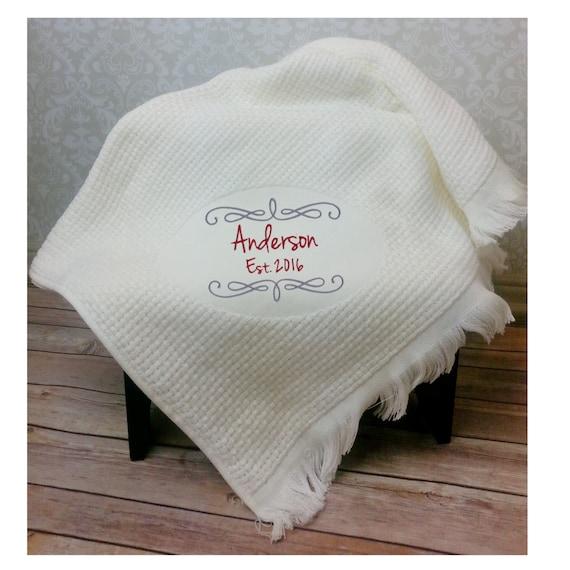 monogram throw blanket embroidered blanket monogram blanket etsy