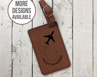 Personalized Luggage Tag, Custom Laser Engraved Luggage Tag, Travel Accessory, Luggage Identification, Wedding Gift