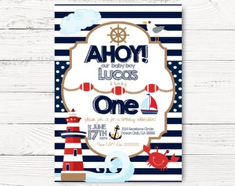 nautical invites etsy