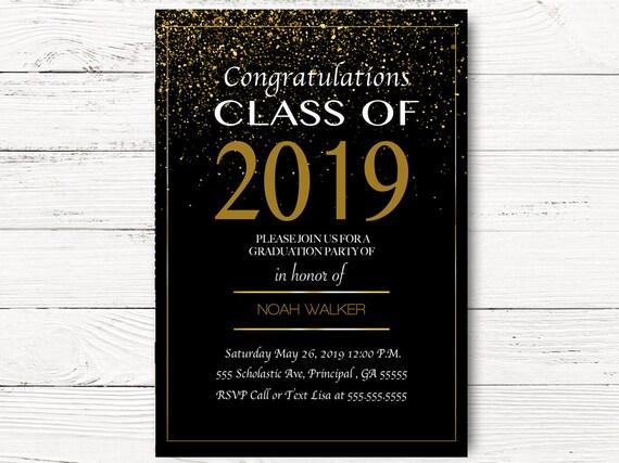 Digital Graduation Invitations Graduation Party Invite Class Etsy