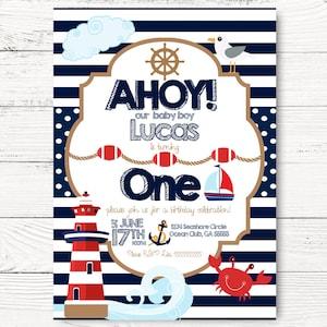 Little Sailor Party Nautical Home Decor Boys First Birthday Nautical Baby Shower Ships Ahoy Nautical Banner 7ft Ahoy It/'s a Boy