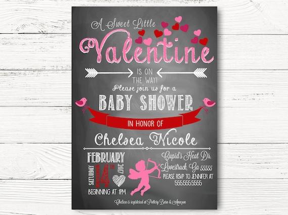 Valentine S Baby Shower Invitation Cupid Baby Shower Etsy