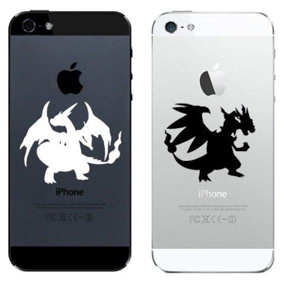 Pokemon Mega Dracaufeu X Et Y 1 De Chaque Coque Pour Iphone 4 5 6 Sticker Autocollant