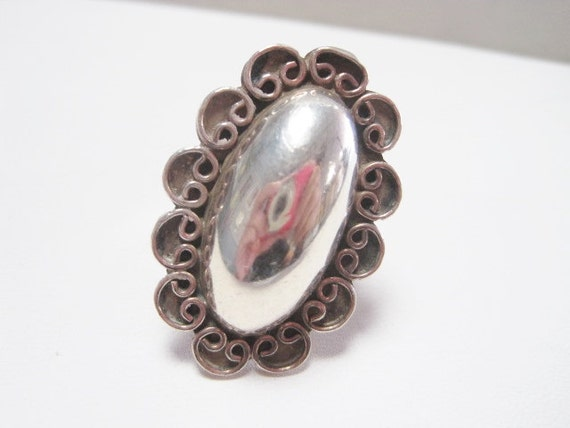 Bold Mexican Sterling Silver Ring