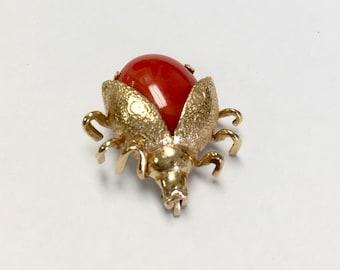 14k Vintage Ladybug Brooch