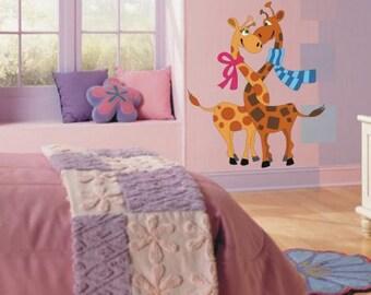 Wall Sticker Giraffes in Love (200f)