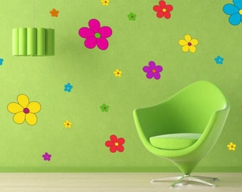 Wall Sticker (270f) Color flowers