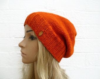 4d6b54eaf63 Burnt Orange Slouchy Beanie Hat