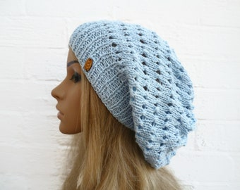0787e868df8 Light Blue Cotton Hairnet Snood Hat