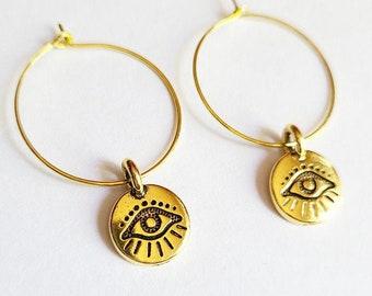 Evil Eye Hoop Earrings