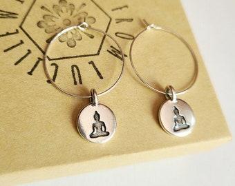 Buddha Hoop Earrings