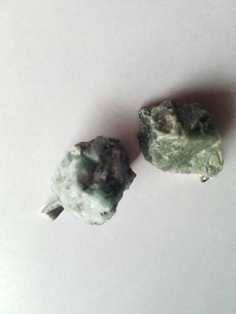 Raw Emerald Pendant