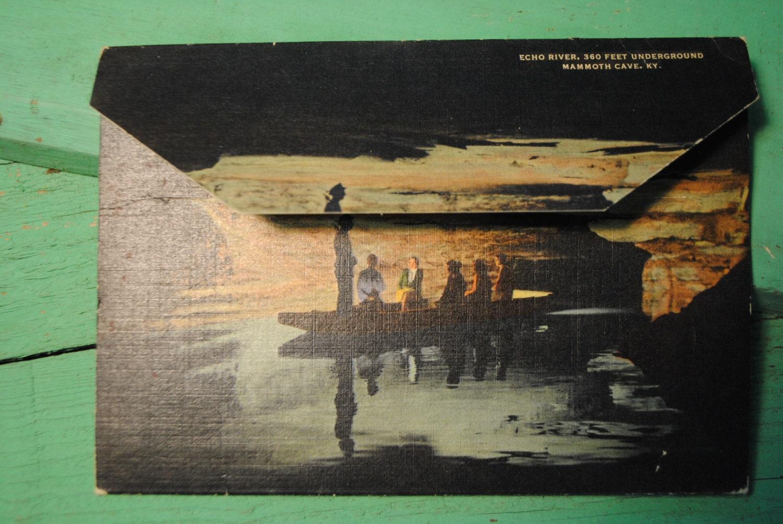 Vintage Postcard Collection Great Mammoth Cave National Park Etsy Visval Echo Khaki