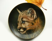 Cougar Cub Collector Plate, Cubs of the Big Cats Limited Edition #830 Princeton Galleries