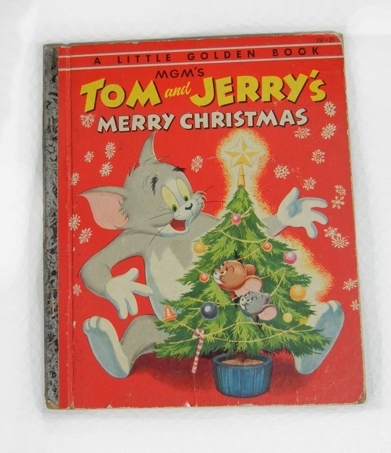 Tom and Jerrys Merry Christmas Little Golden Book 1st Edition image 0