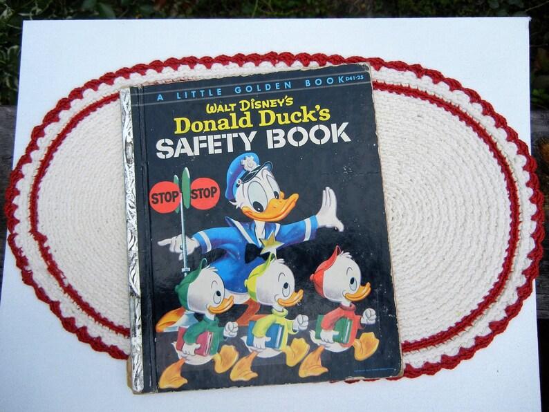 Walt Disney Donald Ducks Safety Book  Vintage Little Golden image 0