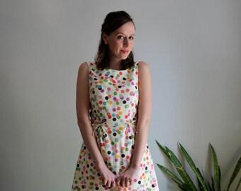 Rainbow Confetti Print Dress / Something to Celebrate Dress