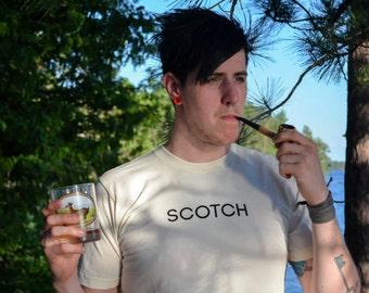 Natural Cotton Colour Graphic Unisex T-shirt / Scotch Tee