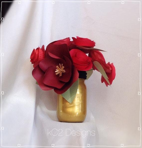 Fleurs En Papier Saint Valentin Nombre De Centres De Table Etsy