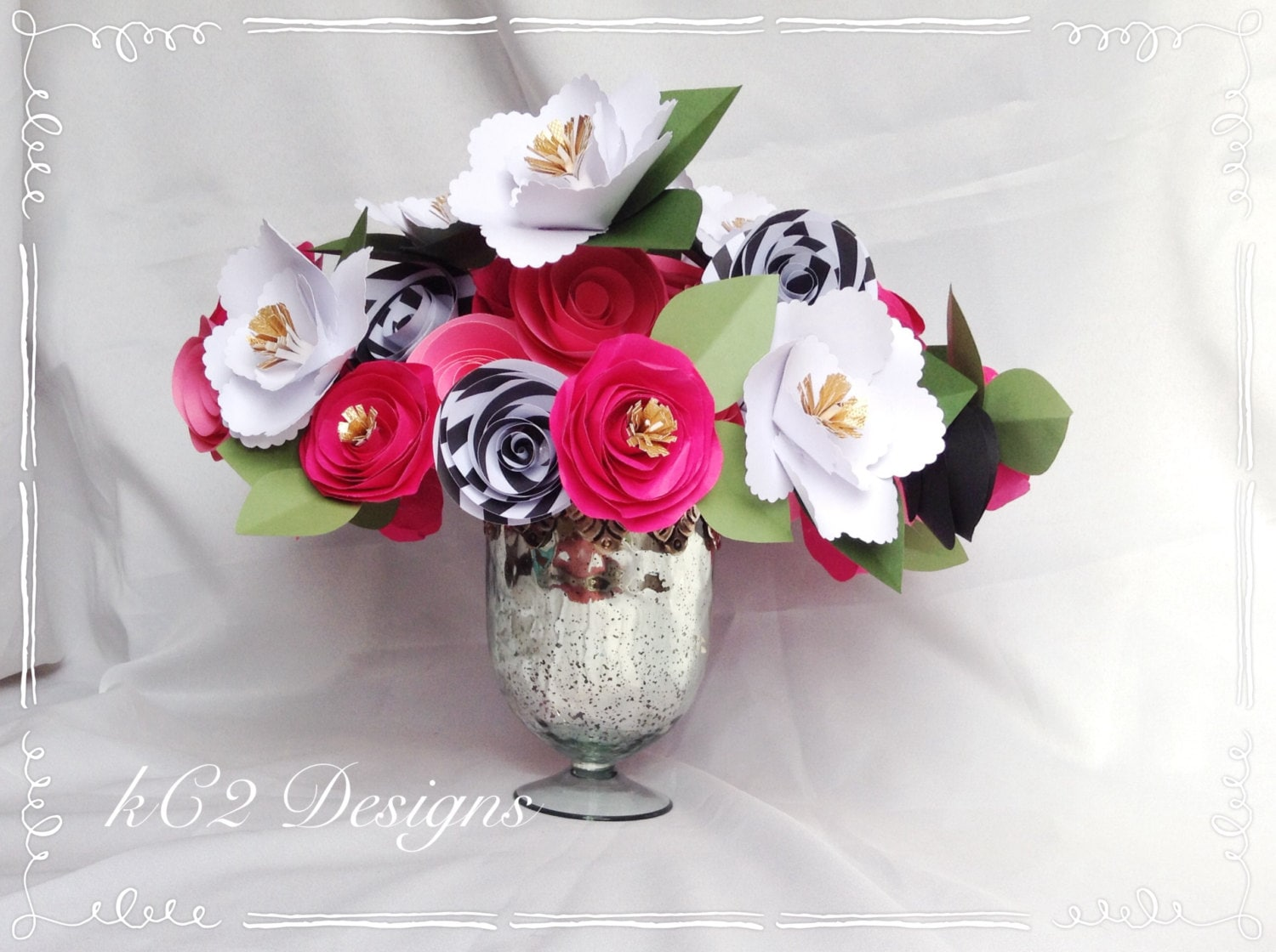Paper flowers kate spade inspired bridal bouquet etsy izmirmasajfo
