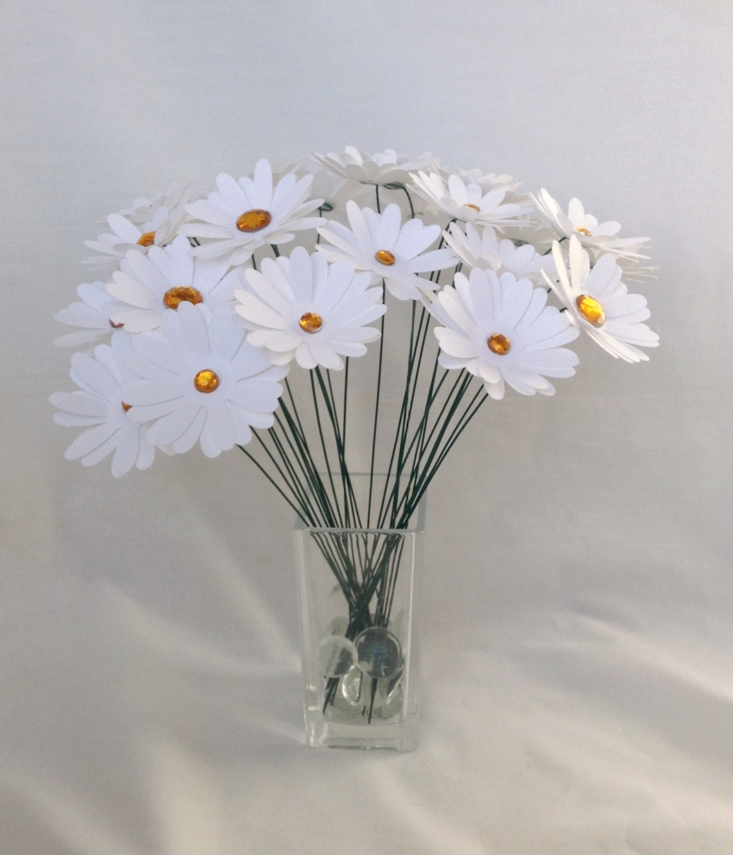 Fabric Flower Wedding Bouquet Tutorial: Paper Daisies. Paper Flowers. Wedding Centerpiece. Wedding