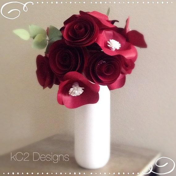 Papel Flores Flores Decor Boda Centro De Mesa Flores De San Etsy